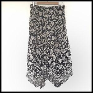 ⭐SALE⭐ Charter Club Silk Asymmetrical Floral Skirt